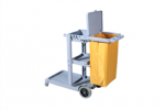Janitor Cart with Cover Grey